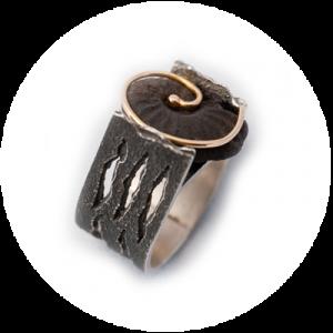 anillos de joyería contemporánea de autor