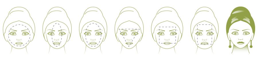 Pendientes para cara en forma de diamante